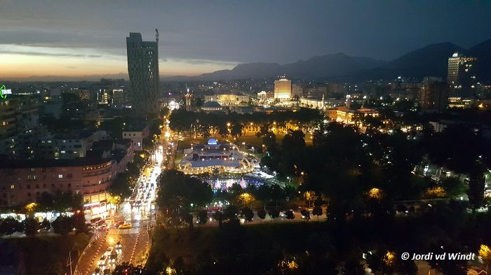 Tirana at night